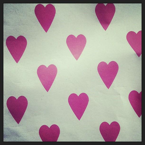 Viele pinke Herzen zum Valentinstag