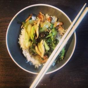 Ein Rezept zum Pak Choy Gemüse