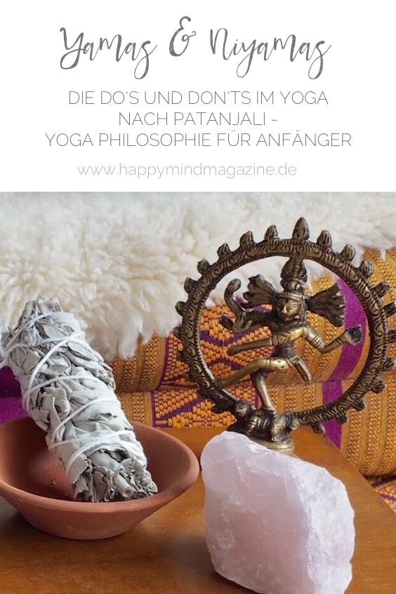 Die Yamas und die Niyamas sind die Verhaltensregeln des Yoga