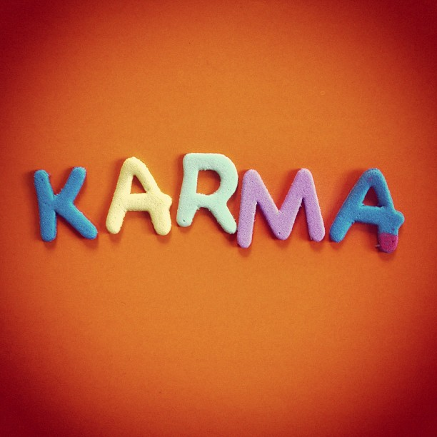 Karma ist das Gesetz von Ursache und Wirkung