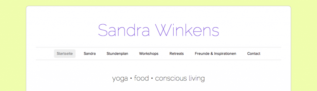 Blog der Yogalehrerin Sandra Winkens