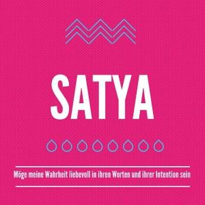Ein Text über Satya nach Patanjali im Yoga