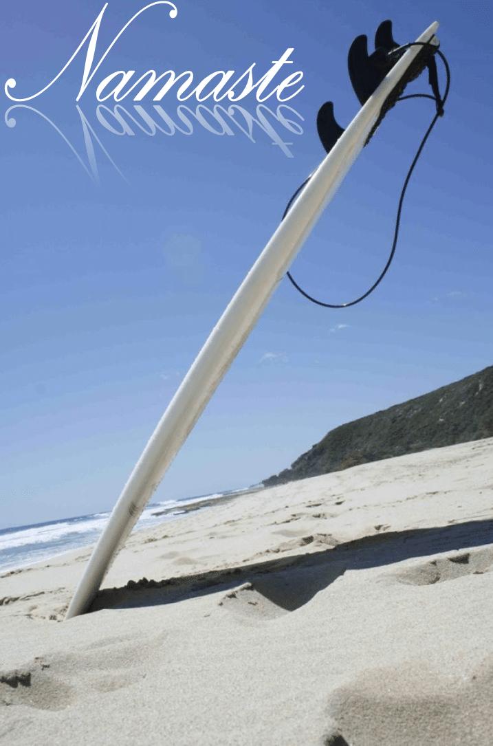 Yoga und Wellenreiten