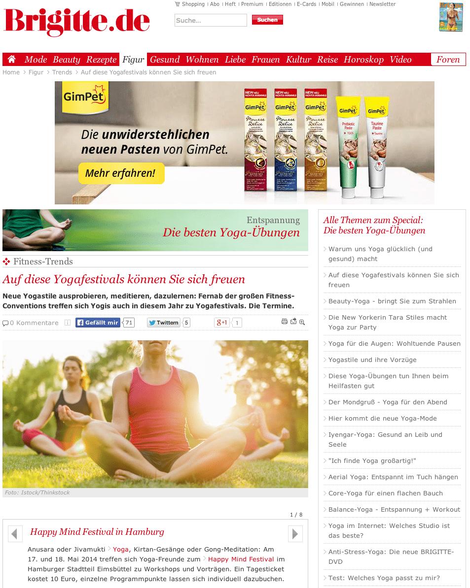 Auf diese Yogafestivals können Sie sich freuen BRIGITTE.de