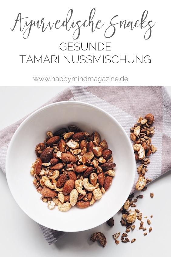 Frittiertes ist im Ayurveda ein großes No No. So kannst du dir mit meinen Tamari Nüssen gesunde Ayurvedische Snacks machen.