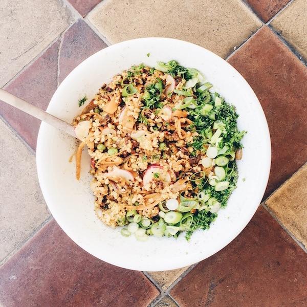 Rezept: Orientalischer Sommersalat mit Quinoa & Feigen