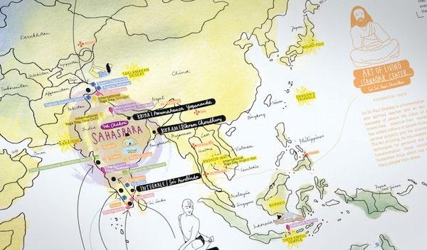 Awesome Maps macht ganz wundervolle Landkarten - auch für Yogis!