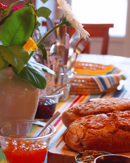 Alexandra's liebevoll zubereitetes Frühstück