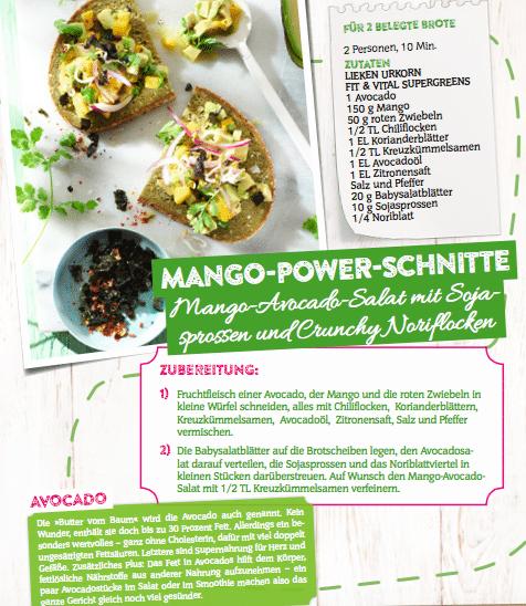 Mango Power Schnitte