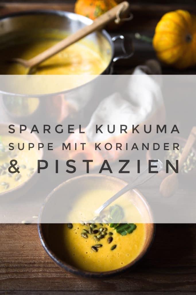 Ayurvedische Suppe mit Spargel und Kurkuma